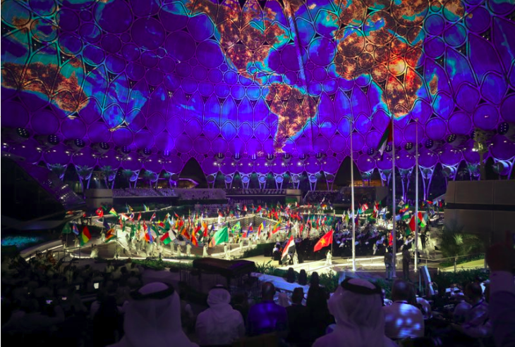 The flag ceremony of 190-plus participant countries